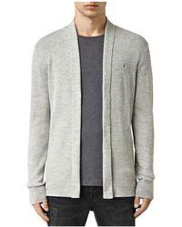 AllSaints - Mode Merino Wool Open Cardigan Sweater - Lyst