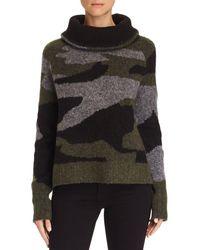Aqua - Camo Cowl-neck Sweater - Lyst