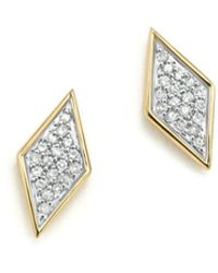 Adina Reyter - 14k Yellow Gold & Pavé Diamond Tiny Stud Earrings - Lyst