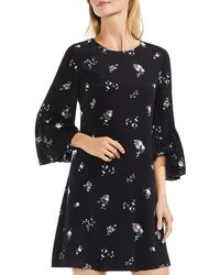 Vince Camuto - Bouquet-print Bell-sleeve Dress - Lyst