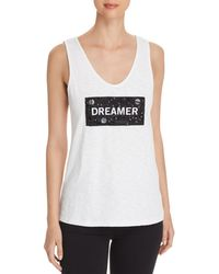 Kenneth Cole - Embellished Graphic Tank - Lyst