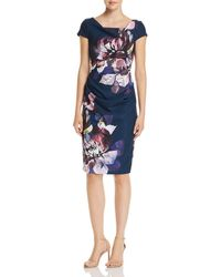 Adrianna Papell - Floral Sheath Dress - Lyst