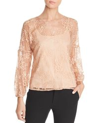 Status By Chenault - Lace Blouse - Lyst