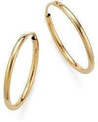 Bloomingdale's - 14k Yellow Gold Endless Hoop Earrings - Lyst