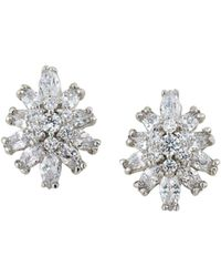 Carolee - Pavé Starburst Clip-on Earrings - Lyst
