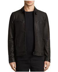 AllSaints | Lark Leather Jacket | Lyst