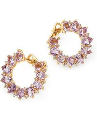 Kiki McDonough - 18k Yellow Gold Juno Amethyst & Diamond Sunflower Earrings - Lyst