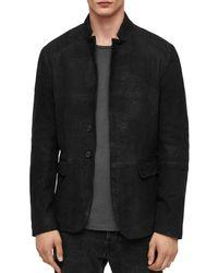 AllSaints - Brenton Leather Jacket - Lyst