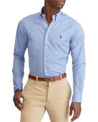 Polo Ralph Lauren - Poplin Classic Fit Button-down Shirt - Lyst