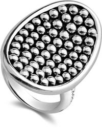 Lagos - Sterling Silver Bold Caviar Vertical Ellipse Ring - Lyst