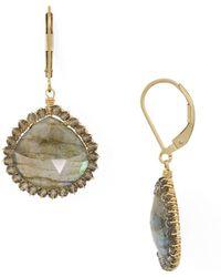 Dana Kellin - Faceted Stone Drop Earrings - Lyst