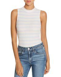 Honey Punch - Striped Rib - Knit Bodysuit - Lyst