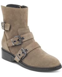 Kendall + Kylie - Kendall And Kylie Women's Nori Round Toe Suede Low-heel Booties - Lyst