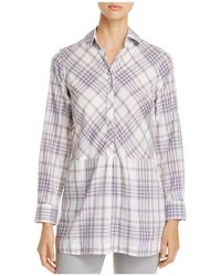 Foxcroft - Maddy Winter Plaid Tunic Top - Lyst