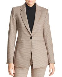 Theory - Power Checked Blazer - Lyst