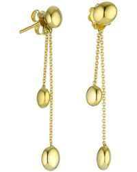 Chimento - 18k Yellow Gold Armillas Acqua Collection Bead Chain Drop Earrings - Lyst