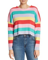 Honey Punch - Striped Cropped Jumper - Lyst