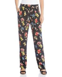Karen Kane - Floral Straight Trousers - Lyst