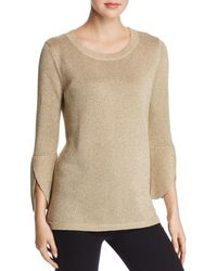 Calvin Klein - Metallic Bell-sleeve Sweater - Lyst
