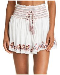 Surf Gypsy - Embroidered Mini Skirt Swim Cover-up - Lyst