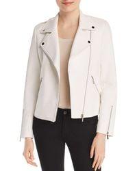 Bagatelle - Embossed Faux Leather Moto Jacket - Lyst
