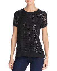 Donna Karan - Cap-sleeve Sequin Top - Lyst