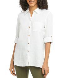 Foxcroft - Tamara Cotton-gauze Shirt - Lyst