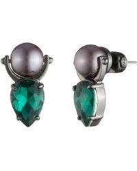 Carolee - Simulated Pearl Door Knocker Earrings - Lyst