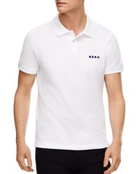 19add6a15 Sandro Athletic Slim Fit Polo in Black for Men - Lyst