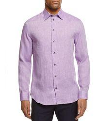 Armani - Flax Regular Fit Button-down Shirt - Lyst