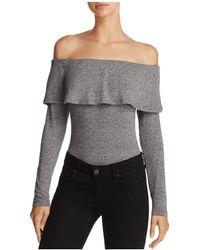 Bardot | Ruffle Off-the-shoulder Bodysuit | Lyst