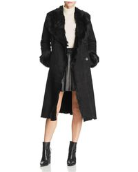 Maximilian - Shearling Coat With Toscana Shearling Shawl Collar - Lyst