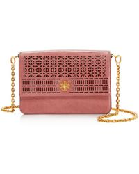 Tory Burch - Kira Perforated Leather Shoulder Bag - Lyst