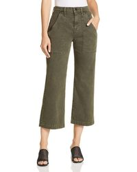 Hudson Jeans - Wide Leg Crop Cargo Jeans In Military Green 2 - Lyst