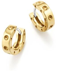 Roberto Coin - 18k Yellow Gold Symphony Pois Moi Huggie Hoop Earrings - Lyst