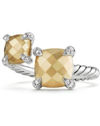 David Yurman - Châtelaine Bypass Ring With 18k Gold And Diamonds - Lyst