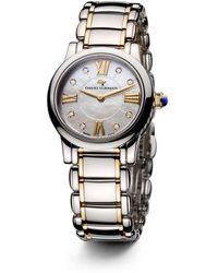David Yurman - Classic 30mm Stainless Steel Quartz With Diamond Markers & Gold - Lyst