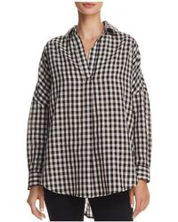 French Connection - Pleated Gingham Shirt - Lyst