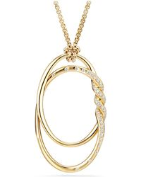 David Yurman - Continuance Pendant Necklace With Diamonds In 18k Gold - Lyst