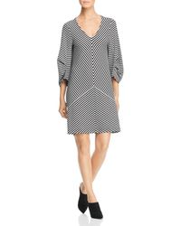 Kenneth Cole - Striped Draped-back Dress - Lyst