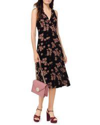MICHAEL Michael Kors - Floral-print Devoré-chiffon Midi Dress - Lyst