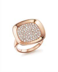 Roberto Coin - 18k Rose Gold Carnaby Street Diamond Ring - Lyst