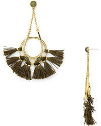 Rebecca Minkoff - Tassel Chandelier Earrings - Lyst