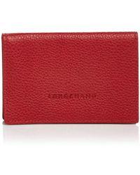 Longchamp - Card Case - Veau Foulonne - Lyst