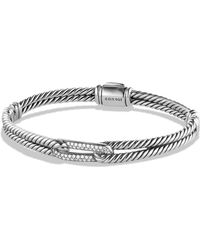 David Yurman | Petite Pavé Labyrinth Mini Loop Bracelet With Diamonds | Lyst