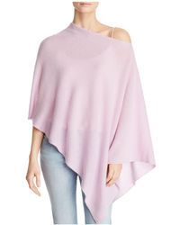 C By Bloomingdale's - One-shoulder Lightweight Cashmere Poncho - Lyst
