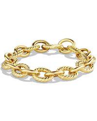 David Yurman - Oval Large Link Bracelet In Gold - Lyst