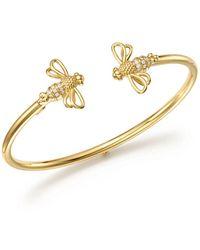 Temple St. Clair - 18k Yellow Gold Bee Bellina Diamond Bangle Bracelet - Lyst