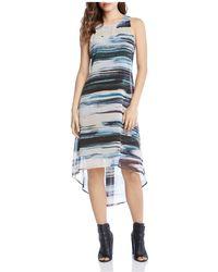 Karen Kane - Brushstroke Print High/low Dress - Lyst