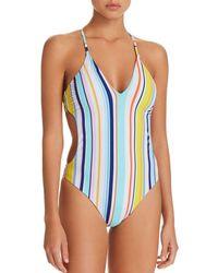 Nanette Lepore - Amalfi Coast Striped One Piece Swimsuit - Lyst